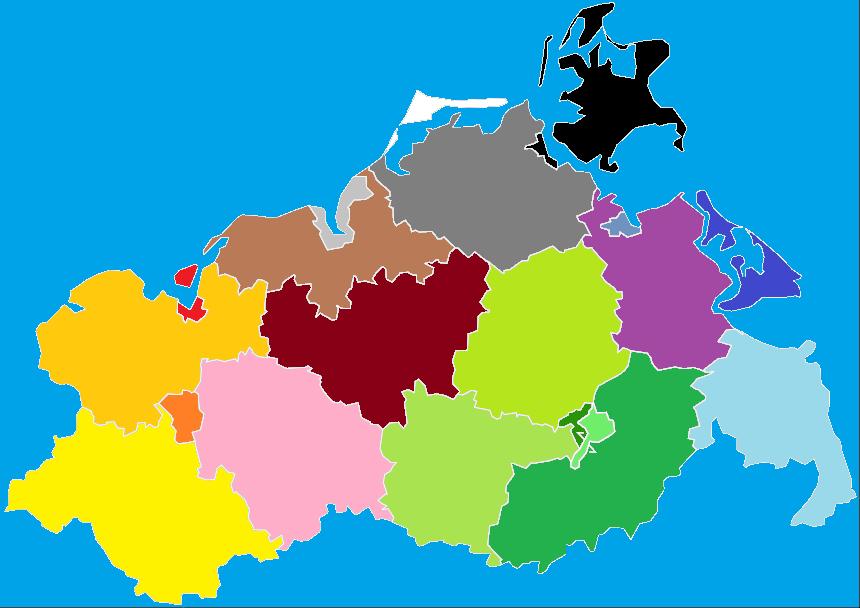 Mecklenburg Vorpommern, Karte