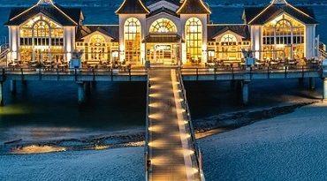 Ostseebad Sellin auf der Insel Rügen. Ostsee, Strand, Meer, Wasser, Deutschland