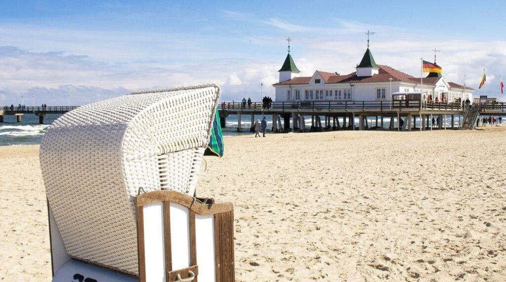 Seebad Ahlbeck erleben und entdecken, Strandkorb, Strand, Ostsee, Seebrücke, Insel Usedom