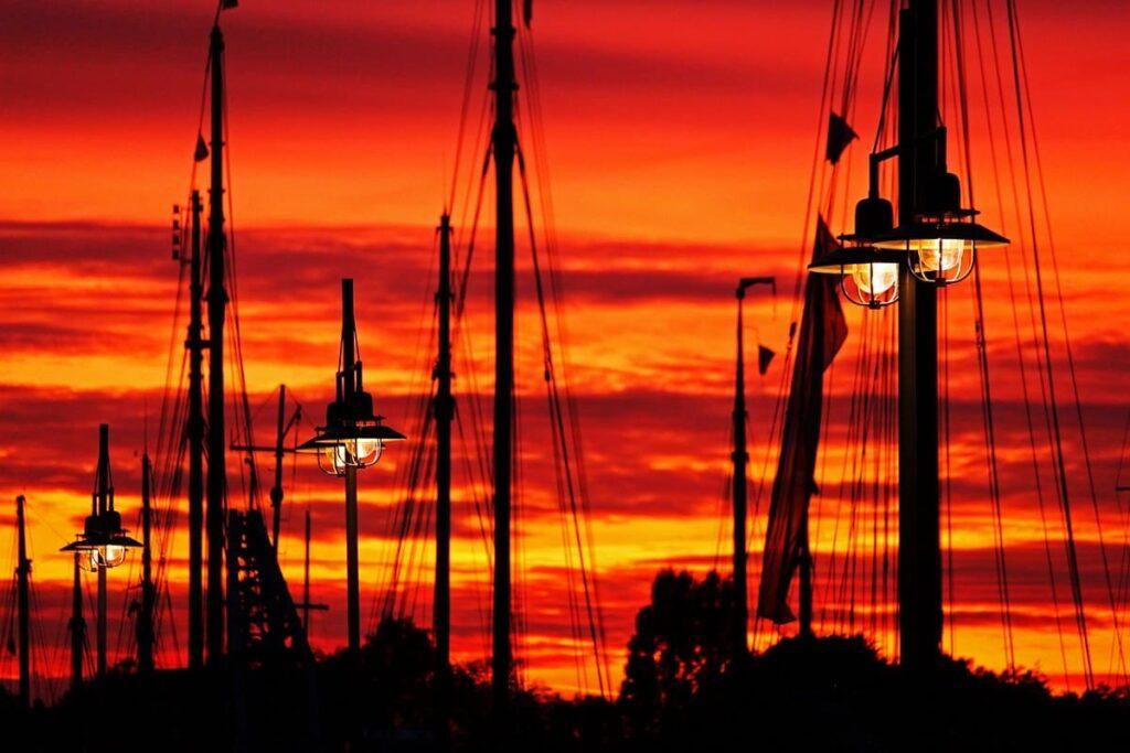 Sonnenuntergang, Museumshafen, Greifswald, Stimmung, Ostsee, Urlaub, Mein-Ostsee-Urlaub.NET
